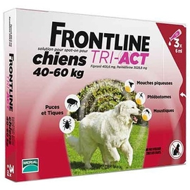 Frontline tri-act chiens 40-60kg - 3 pipettes - 3.0  - merial -191727