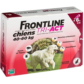 Frontline tri-act chiens 40-60kg - 6 pipettes - frontline -205443