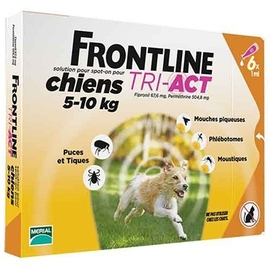 Frontline tri-act chiens 5-10kg - 6 pipettes - merial -204049