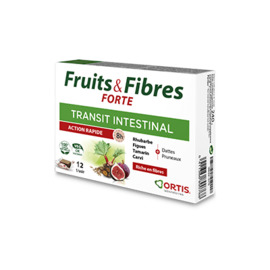 Fruits & fibres forte transit intestinal action rapide 12 cubes - ortis -225329