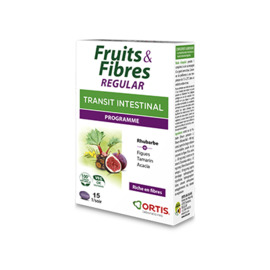 Fruits & fibres regular transit intestinal programme 15 comprimés - ortis -225334
