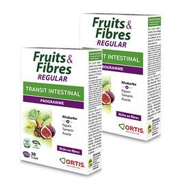 Fruits & fibres regular transit intestinal programme lot de 2x30 comprimés - ortis -225338