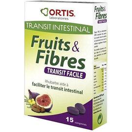 Fruits & fibres transit facile 15 comprimés - ortis -225352