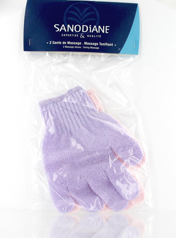 Gant de massage nylon - 2.0 unites - soins du corps - sanodiane -5708