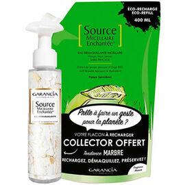 Garancia source micellaire enchantée recharge eau démaquillante amande 400ml + flacon vide collector - garancia -225766