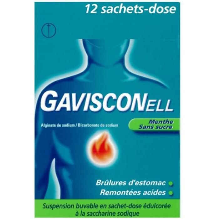 Gavisconell sans sucre menthe - 12 sachets Reckitt benckiser-192728