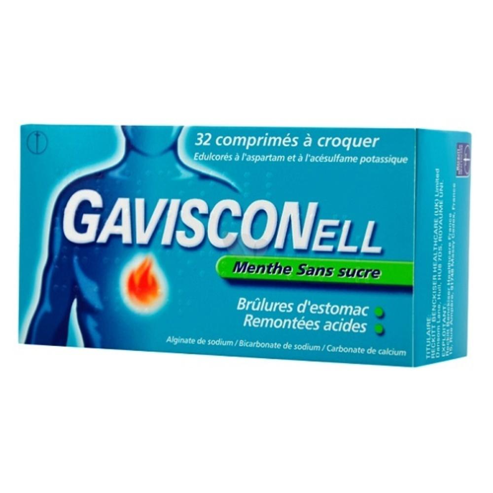 Gavisconell sans sucre menthe - 32 comprimés - reckitt benckiser -192731