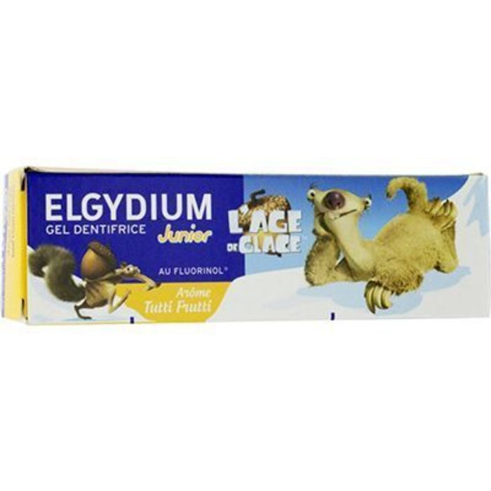 Gel dentifrice junior âge de glace 7/12 ans arôme tutti frutti 50ml Elgydium-221245