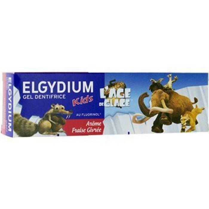 Gel dentifrice kids âge de glace 2/6 ans arôme fraise givrée 50ml Elgydium-221243