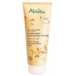 Gel douche camélia & miel d'oranger bio 200ml - gels douche miels et fleurs - melvita -213436