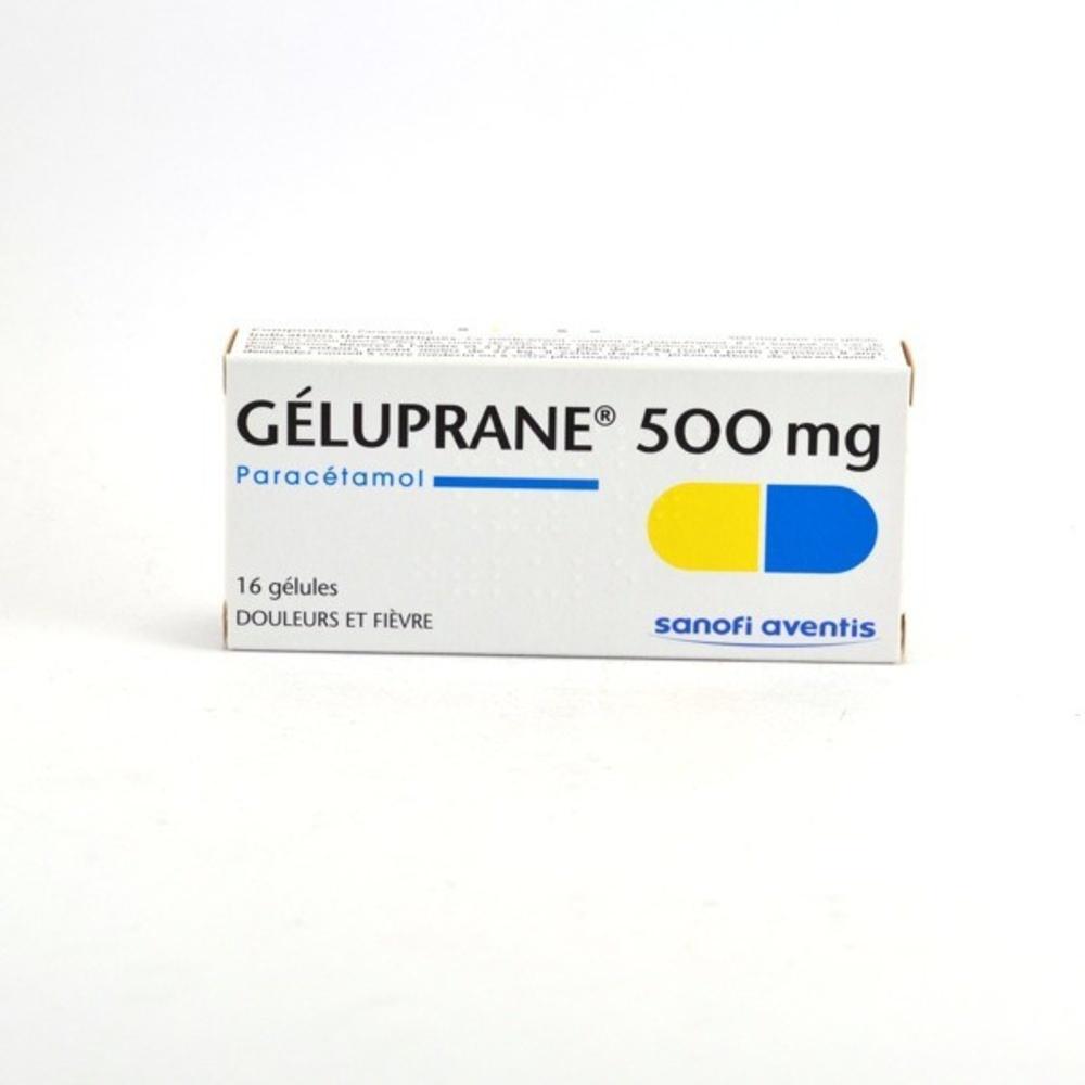 Geluprane 500mg - 16 gelules - sanofi -192060