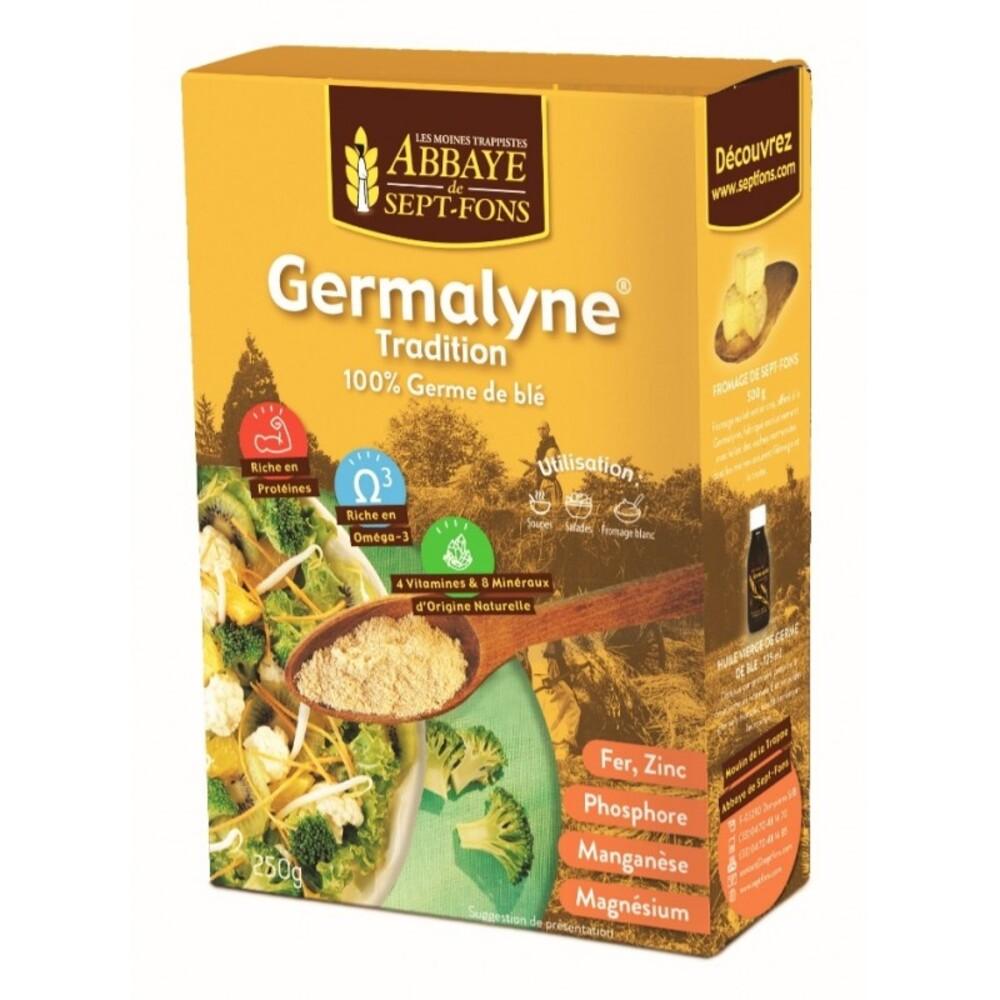 Germalyne soluble (100 % germe de blé intantané) - 250.0 g - compléments alimentaires germa - abbaye de sept-fons Vitamines et minéraux-11975