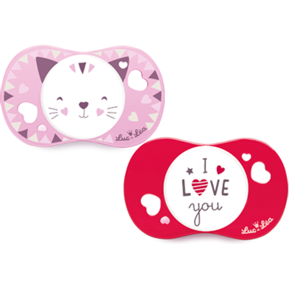 Gilbert luc et léa sucettes silicone 6mois+ i love you x2 Gilbert-223571