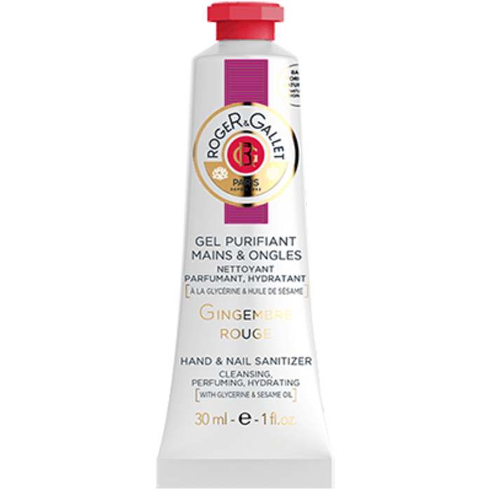 Gingembre rouge gel purifiant mains & ongles 30ml Roger & gallet-220515