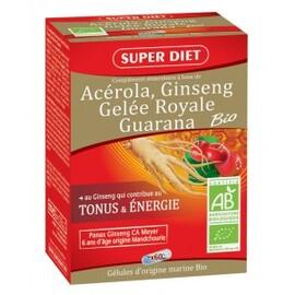 Ginseng - gelée royale - guarana - gélules - 60.0 unites - la gamme vitalité - super diet Tonifiant et vitalisant-4567