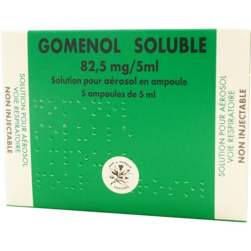 Gomenol soluble 82,5mg/ - 5.0 ml - laboratoire du gomenol -192569
