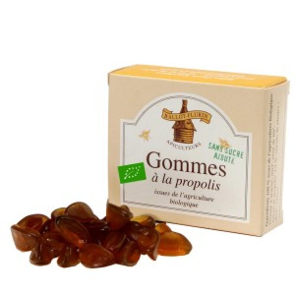 Gommes à la propolis sans sucre ajouté bio - 40.0 g - apithérapie - ballot flurin Irritations de la gorge-11552