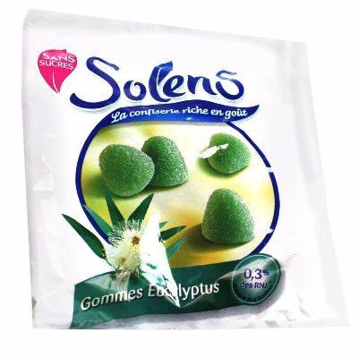 Gommes eucalyptus sans sucre 100g Solens-117349