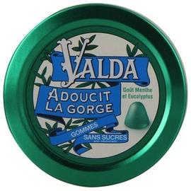 Gommes menthe eucalyptus sans sucres - 50.0 unites - confiserie - valda -139353