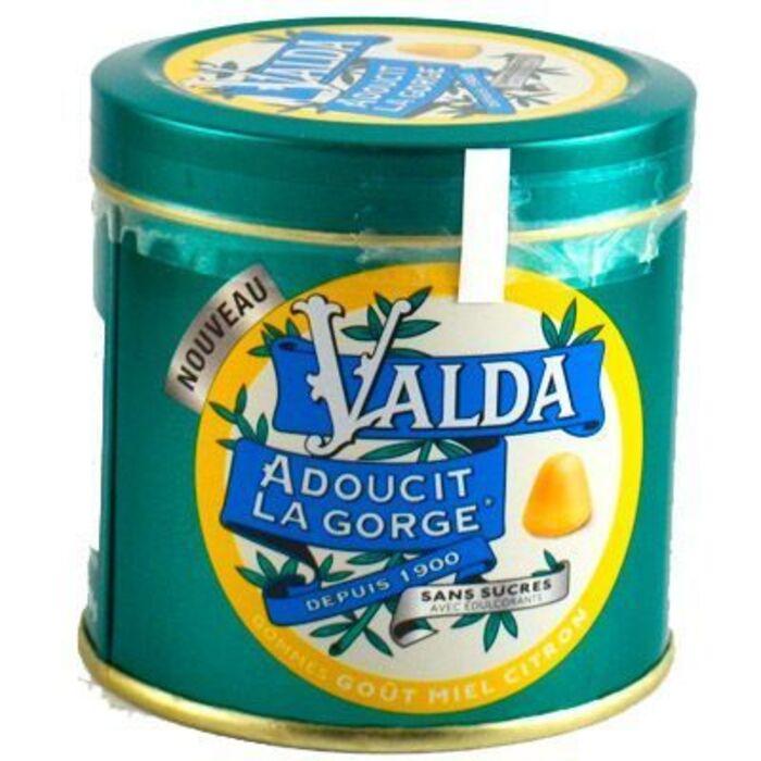 Gommes miel citron sans sucres 50g Valda-223721
