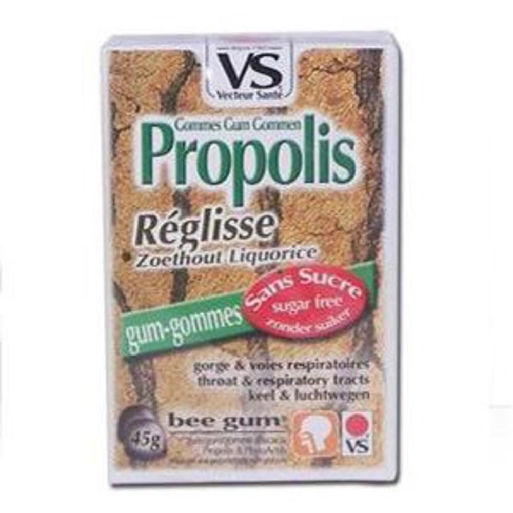 Gommes propolis réglisse bte 45 g sans sucre - divers - vecteur santé -138548