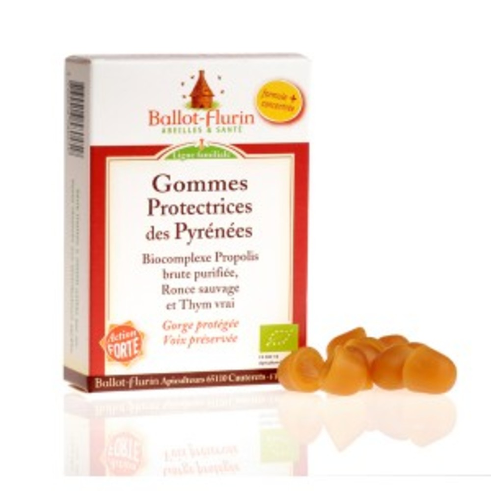 Gommes protectrices des pyrénées (8%propolis) bio - 30.0 g - apithérapie - ballot flurin Premières irritations de la gorge-11554