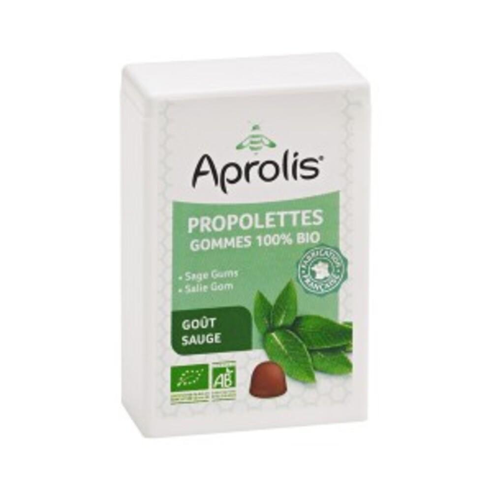 Gommes tendres bio propolettes propolis sauge - 50 g - divers - aprolis -133450