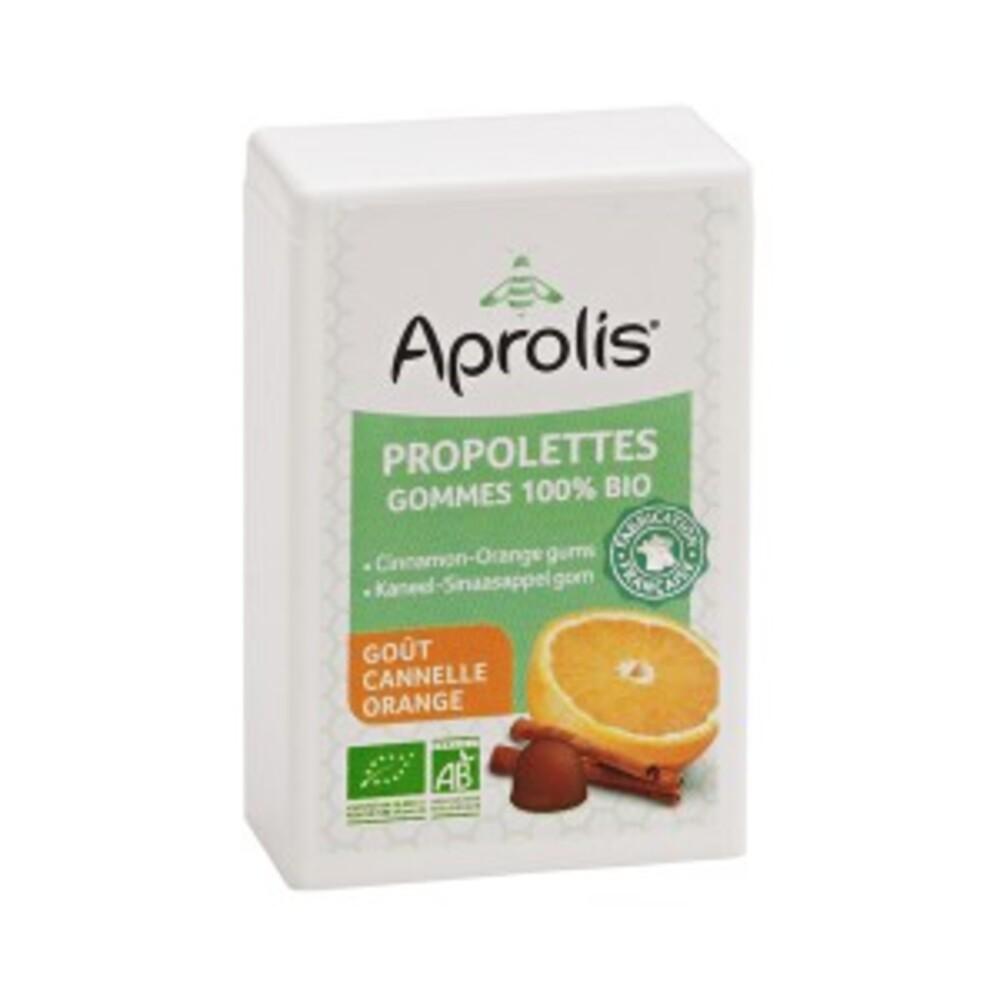 Gommes tendres propolettes propolis, cannelle, orange bio - 50.0 g - hygiène et soin buccal - aprolis -14822
