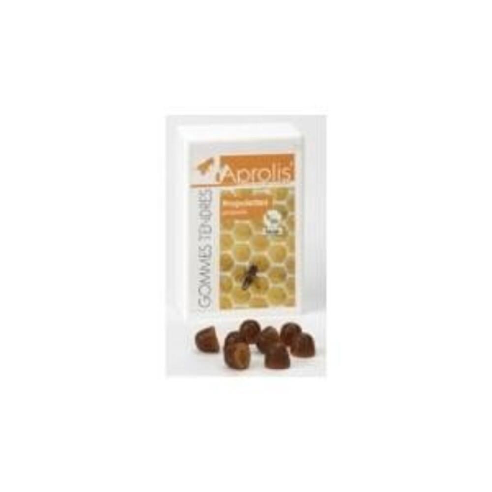Gommes tendres propolettes propolis et herbes des alpes - 50.0 g - hygiène et soin buccal - aprolis -14820