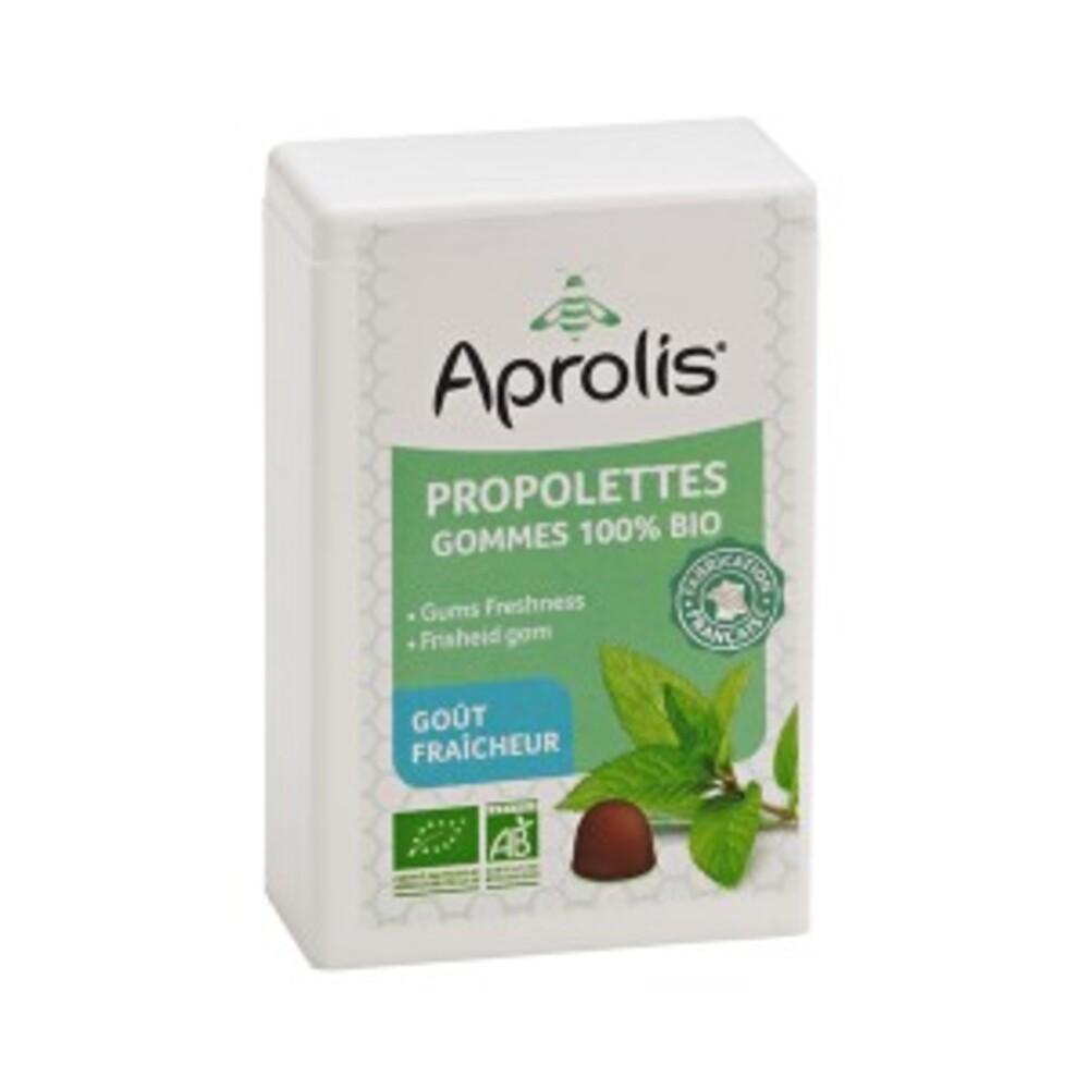 Gommes tendres propolettes propolis fraicheur bio - 50.0 g - hygiène et soin buccal - aprolis -14824