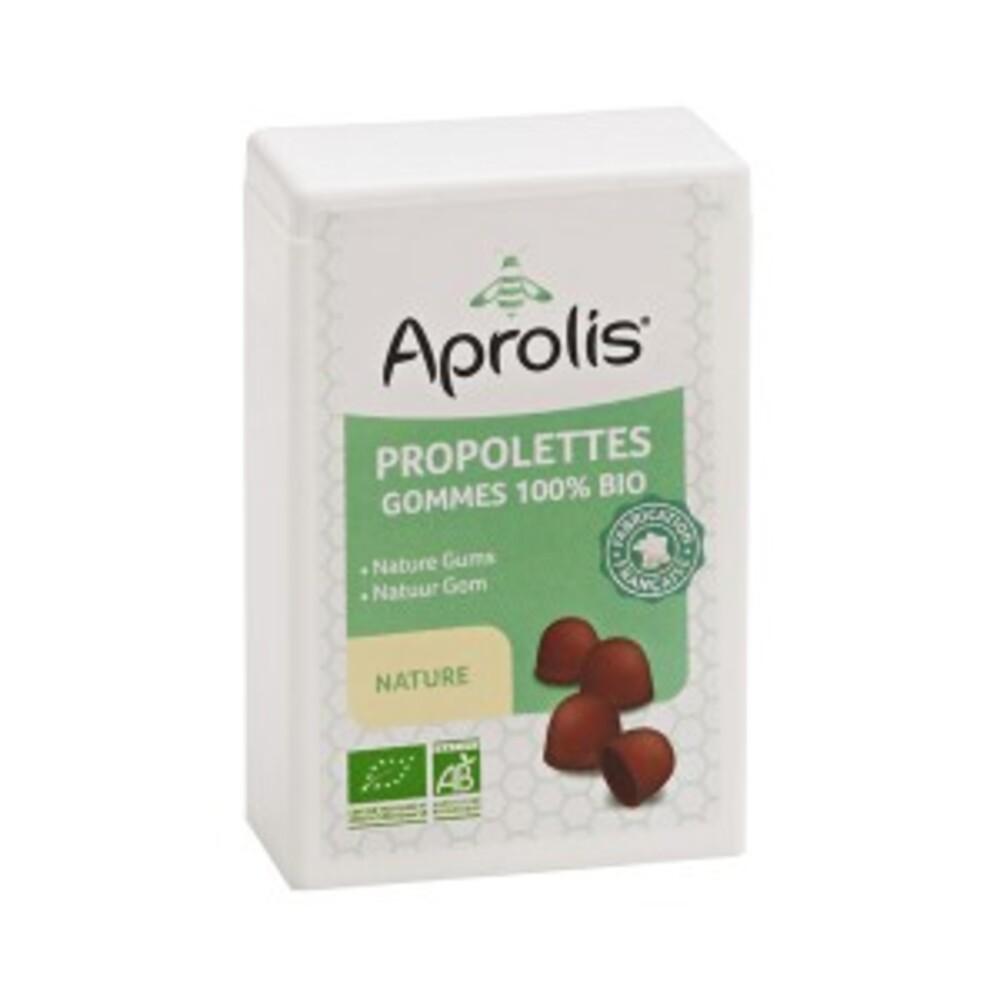 Gommes tendres propolettes propolis nature bio - 50.0 g - hygiène et soin buccal - aprolis -14823