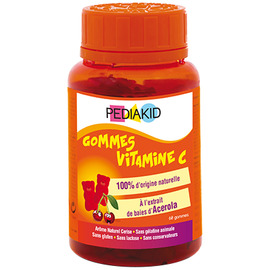 Gommes vitamine c - 60 oursons - pediakid -205886