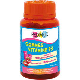 Gommes vitamine d3 60 oursons - pediakid -222640