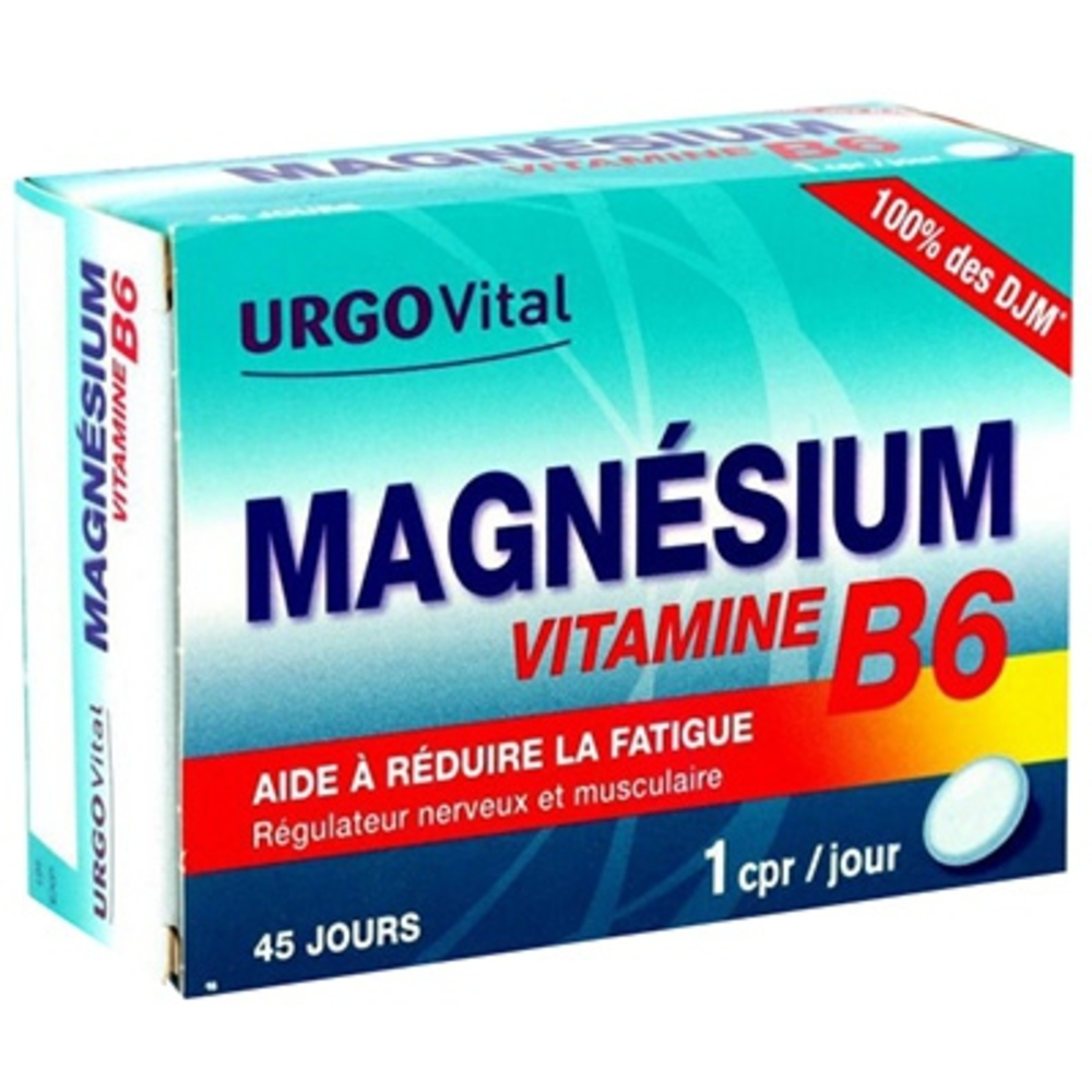 Govital magnésium vitamine b6 45 comprimés - urgo -148224