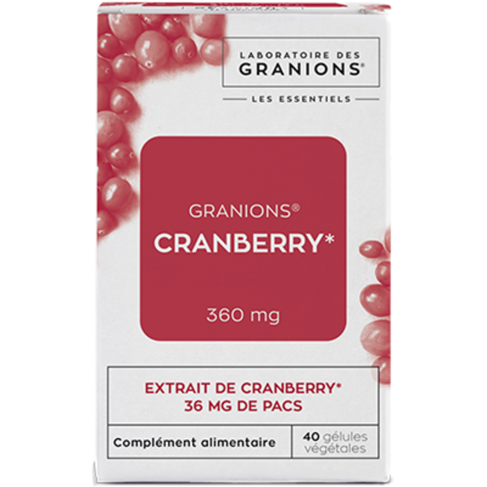 Granions cranberry 360mg 40 gélules végétales - granions -223170