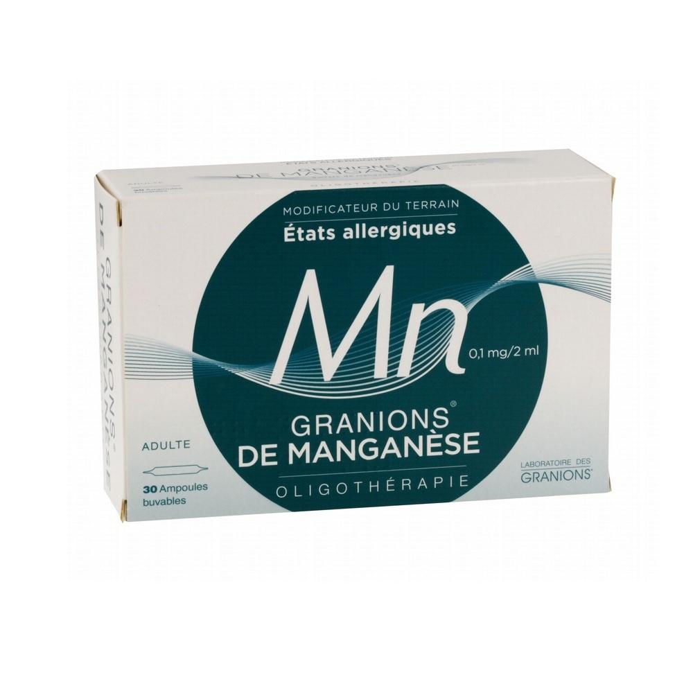 Granions de manganese - 30 ampoules x 2ml - ea pharma -206957