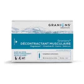 Granions décontractant musculaire 30 ampoules - granions -142097