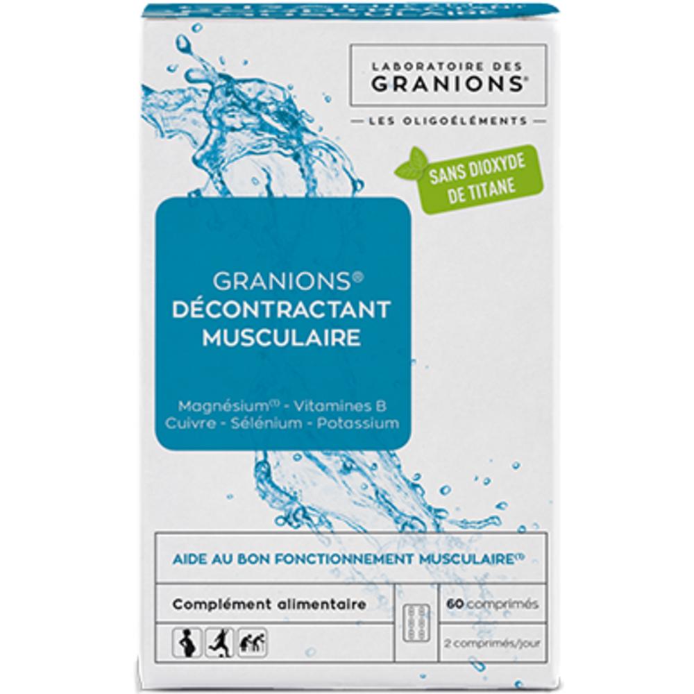 Granions décontractant musculaire 60 comprimés - granions -223098