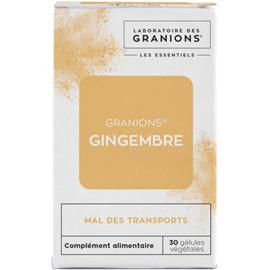 Granions gingembre 30 gélules végétales - granions -223171