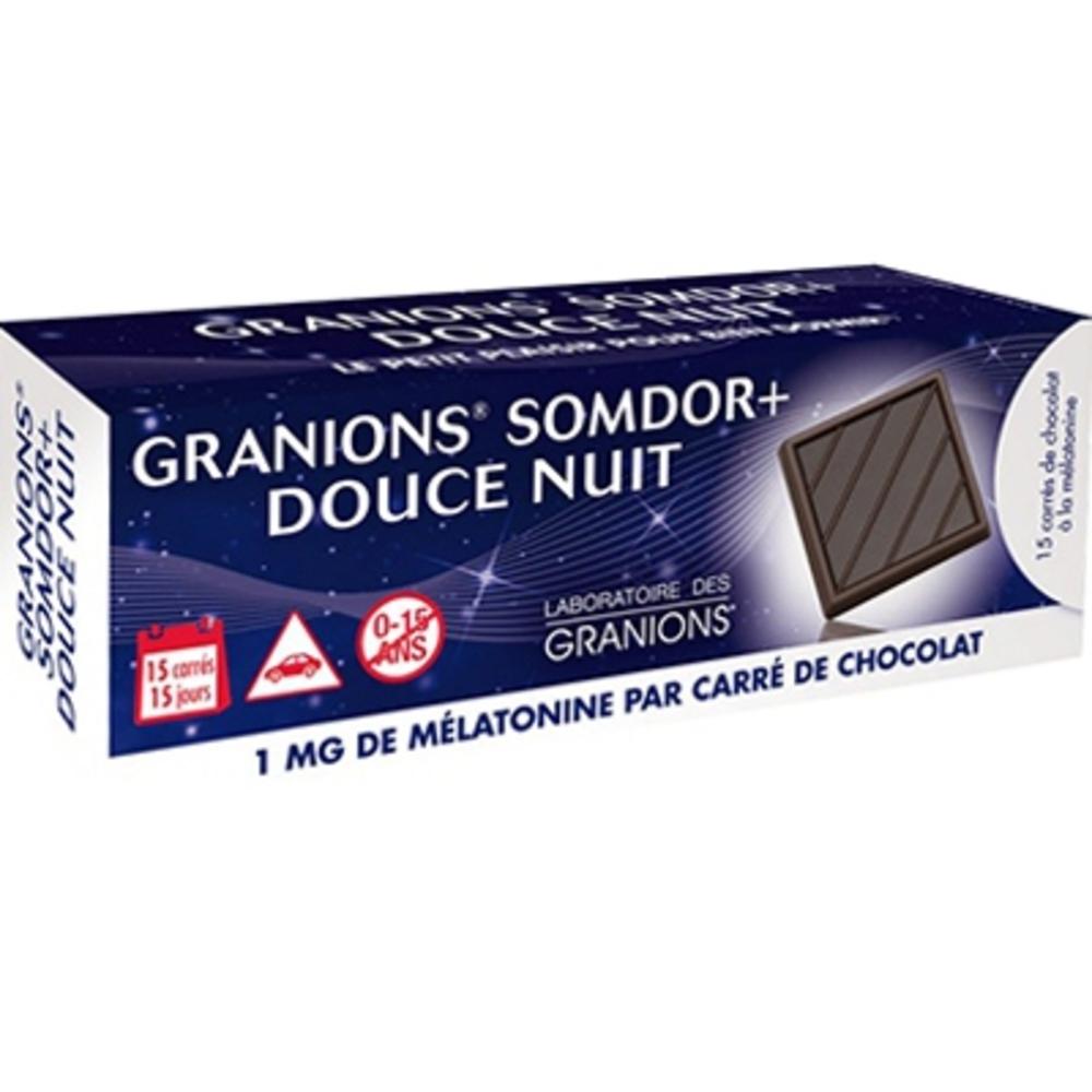 Granions somdor+ douce nuit 15 carrés de chocolat - granions -212639