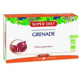 Grenade bio - 20 ampoules - 20.0 unites - vitalité - intellect - super diet -4463