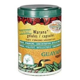 Guarana warana satéré mawé gélules bio - 100.0 unites - compléments alimentaires en poudre et gélules - guayapi Dynamisant, Diminue la sensation de faim-9282