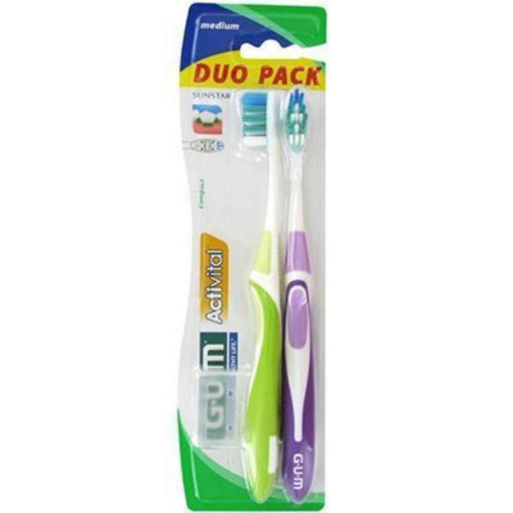 Gum 1528 duo pack lot de 2 brosses à dents medium - gum -210764