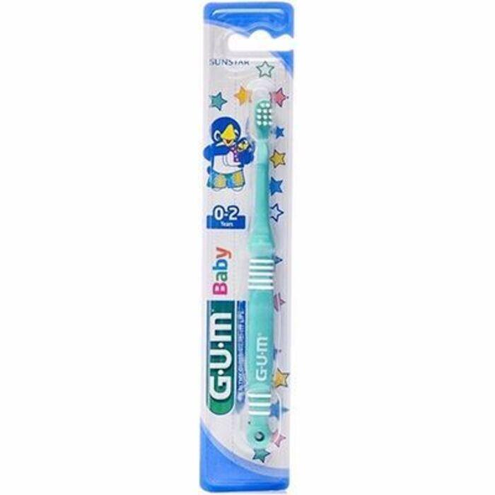 Gum 213 baby brosse à dents bébé 0-2ans verte Gum-216440