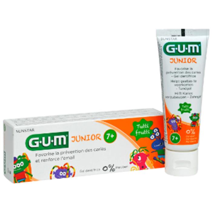 Gum junior dentifrice 7 ans et + tutti frutti Gum-144411