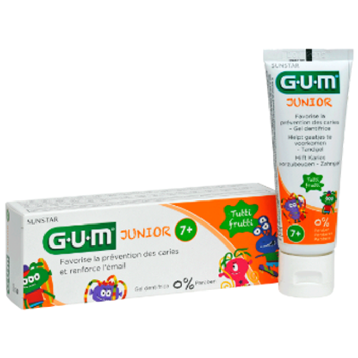 Gum junior dentifrice 7 ans et + tutti frutti 50ml Gum-144411