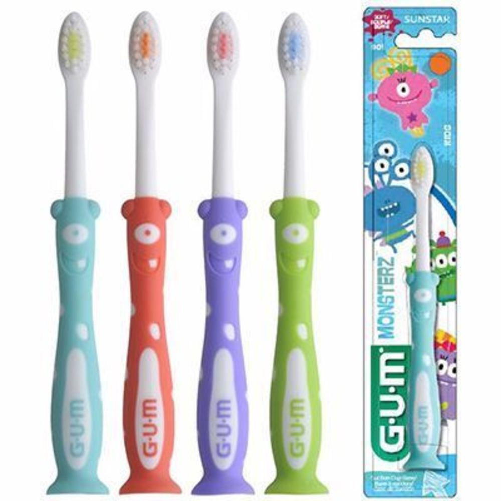 Gum kids brosse à dents 3-6 ans souple garçon Gum-216425