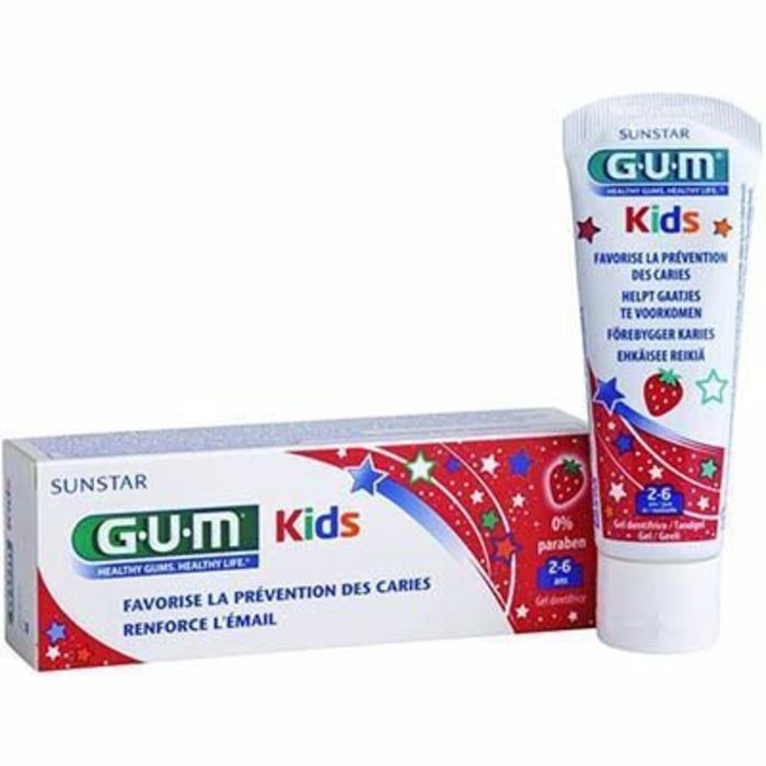 Gum kids dentifrice 2-6ans fraise 50ml Gum-144412