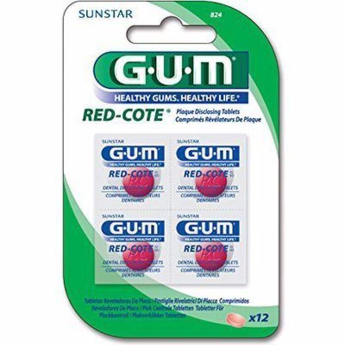 Gum red-cote révélateur de plaque 12 comprimés Gum-216426