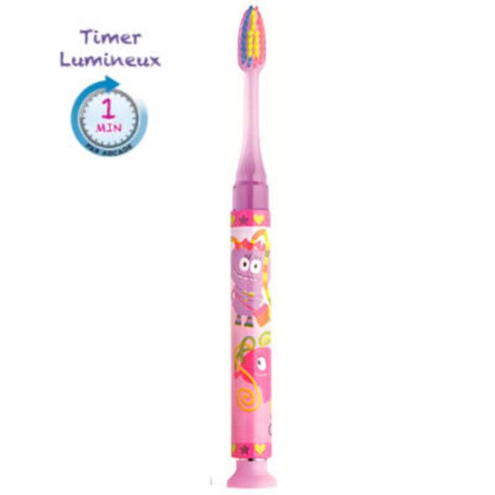 Gum timer light brosse à dents 7 ans et + souple fille Gum-216428